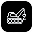 automation, car, crane, excavator, transport, transportation, vehicle icon