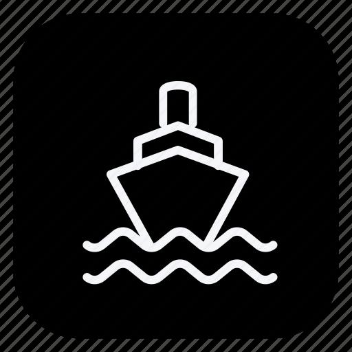 boat, car, cargo, ship, transport, transportation, vehicle icon