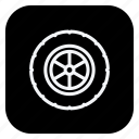 automation, car, gears, transport, transportation, vehicle, wheel icon