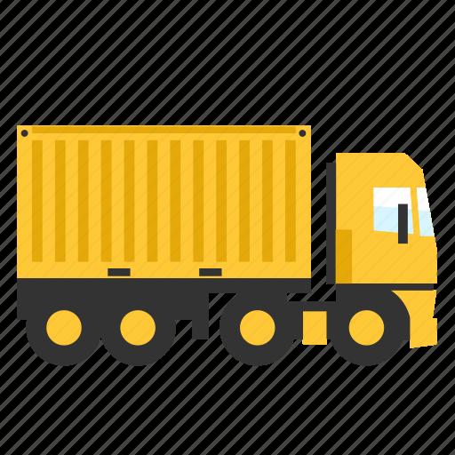 cargo, contrainer, semi, trailer, transport, truck icon