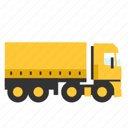 box, cargo, curtain, sider, trailer, transport, truck icon