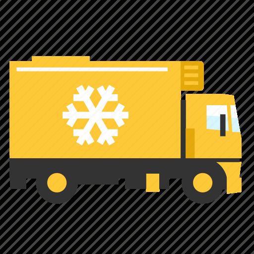 cargo, food, fresh, refrigerator, transport, truck icon