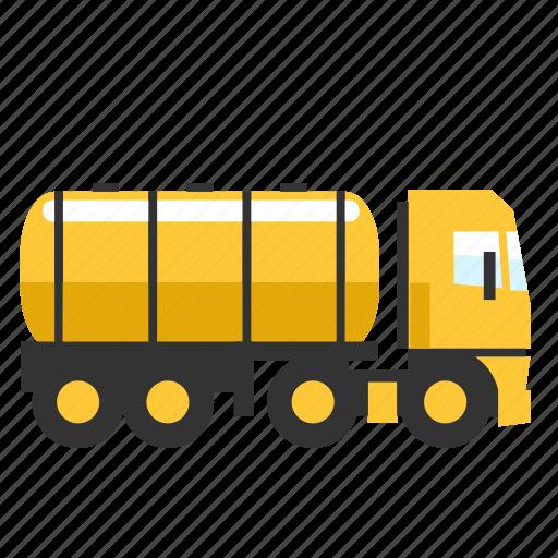 fuel, gas, luiqid, tanker, trailer, truck icon
