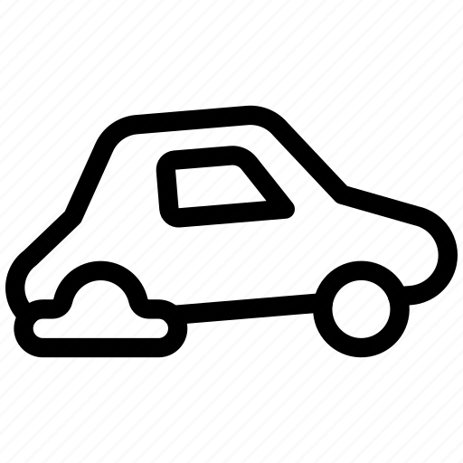 Blowout, car, flat, repair, tire, transport, transportation icon - Download on Iconfinder