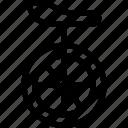 transport, transportation, travel, unicycle icon