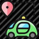 auto, pilot, car, pin