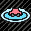 auto, pilot, car, radius