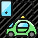 auto, pilot, car, smartphone