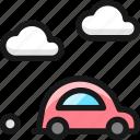 car, clouds