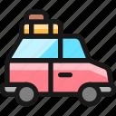 car, truck, luggage