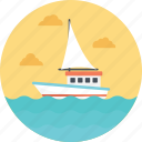 delivery by ship, sailing boat, shipment, shipping, small ship icon