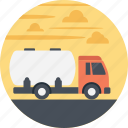 delivery by road, delivery by truck, fuel tanker, fuel truck, transportation icon