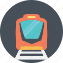 bullet train, rail transportation, railway transportation, speeding train, train track icon