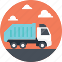 delivery truck, garbage truck, preserving environment, recycle truck, recycling truck icon