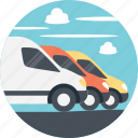 delivery cars, delivery services, delivery trucks, different delivery services, transportation services icon
