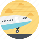 air cargo, air route, delivery by air, cargo delivery, cargo plane icon