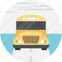 bus driver, bus service, passengers, school bus, yellow school bus icon