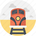 rail tracks, railway tracks, railway train, speeding train, tracks icon