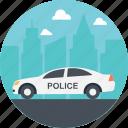government transportation, car, service transport, public service transport, police car icon