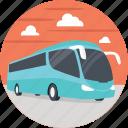 blue passenger bus, passenger bus, public bus, public transport, public transportation icon