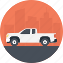 package transportation, pickup truck, transportation services, truck, white pickup truck