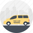 cab service, public transportation, taxi cab, transportation services, yellow cab icon