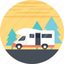 automobile, caravan, family holiday, moving house, transportation