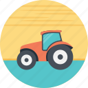 agricultural tractor, agricultural transportation, agriculture, red tractor, tractor icon