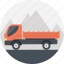 delivery truck, lorry truck. lorry transportation, package delivery, transportation truck icon