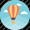 air balloon, air delivery, air route, airbourne, hot air balloon icon