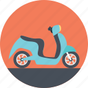 bike delivery, blue scooter, easy travel, public vehicle, scooter icon