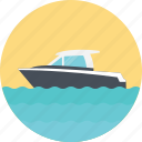 luxury boat, sailing boat, sea route, yacht, white yacht icon