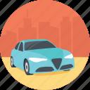 blue car, car brand, driving car, executive car, expensive car icon