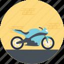 heavy bike, model bike, motorcycle, riding a bike, sports bike icon