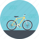 bicycle, cycling, cycling on road, paddling, riding a bike icon