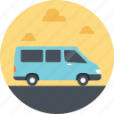 minivan, public minivan, public transport, public transportation service, transport service icon