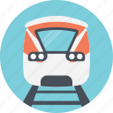 bullet train, electric train, speeding train, train track, train transportation icon