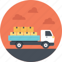cargo delivery, delivering packages, freight delivery, storage, truck delivery icon