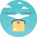 air route, delivery drone, delivery gadget, drone services, package delivery icon