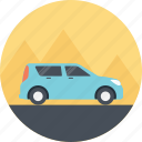 driving car, family car, family holiday, family vacation, going on vacation icon
