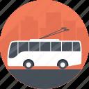bus service, electric bus, public transport, public transport service, trolley bus icon