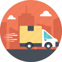 delivery by truck, fast delivery, quick delivery, quick service, truck delivery icon