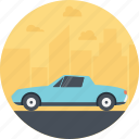automobile, blue vintage car, car, retro car, vintage vehicle icon