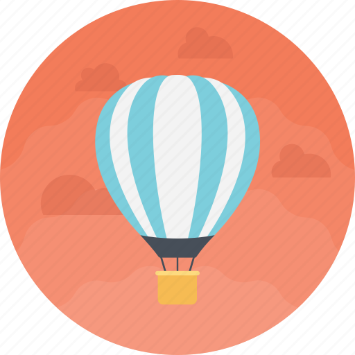 air delivery, air route, air transport, hot air balloon, tourism transport icon