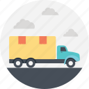 cargo delivery, cargo truck, container truck, delivery transportation, delivery truck, package delivery icon