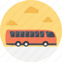 passenger bus, public transport, public transport service, red bus, traveling by bus icon