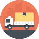 public transport, freight truck, container truck, transportation, delivery truck icon