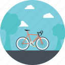 bicycle, cycling, easy transport, riding a bike, two wheel transport icon