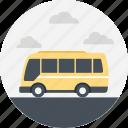 minibus, passenger bus, public service, public transport, transport service, yellow minibus icon