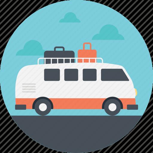 family trip, family van, minivan, sur board, surfing trip icon
